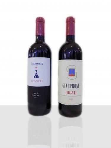 Rosso Spezieri IGT 2016  - Chianti Gineprone DOCG 2015  Acquisto min. 6 bottiglie